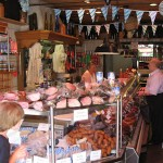 View inside one of the butchers