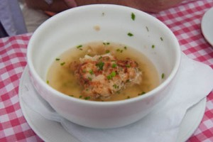 Soup with cheesy dumpling, once I remember the real name I will add it here