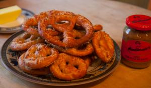 Homemade Bavarian Brezeln