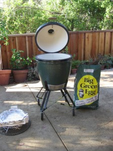 Big Green Egg with accessories and lump charcoal